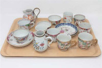 A collection of 18th century Chinese porcelain tea china. (16)