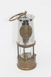 An Eccles Protector Type 6 miner's safety lamp