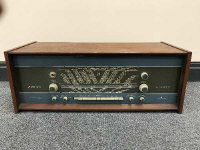 A mid 20th century teak cased Bang & Olufsen Grand Prix stereo.