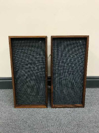 A pair of mid 20th century Bang & Olufsen Type M speakers.