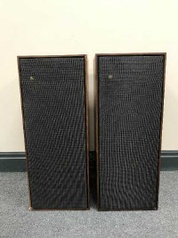 A pair of mid 20th century Bang & Olufsen Beovox Type 6214 speakers.