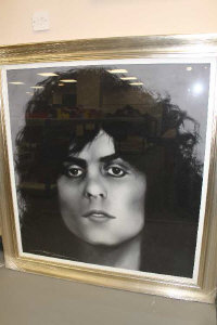 Anthony Orme (b.1945), Marc Bolan, pastel, signed, 101 cm by 108 cm.