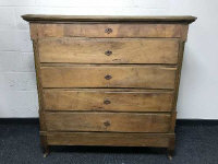 A 19th century oak five drawer chest, width 128cm