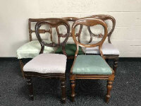 Five 19th century mahogany dining chairs. (5)