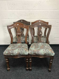 A set of four 19th century mahogany dining chairs. (4)