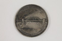 A fine and rare commemorative medal marking the opening of the Tyne Bridge by King George V, October 10th 1928, width 5.6 cm.