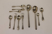 A pair of silver servers, Birmingham 1945, together with nine items of cutlery, 320g. (11)