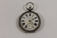 A silver pocket watch, Chester 1901.