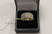 An 18ct gold diamond ring 1.72ct.