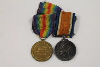 Two WW I medals awarded to 162615 GNR. F.Willey. R.A. (2)