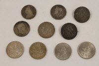 A collection of George III and later crowns. (10)