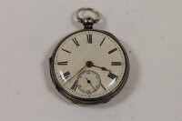 A silver pocket watch, London 1858, Oliver Young, Newcastle upon Tyne.
