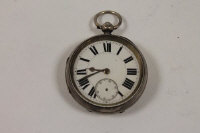 A silver pocket watch, Chester 1893, P.W.Bloom, Sunderland.