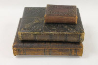Three Victorian Leather bound photograph albums containing photographs.
