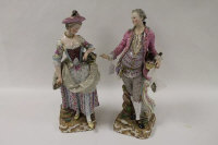 A pair of Meissen figures - The Gardener and Companion, height  48.5 cm. (2).