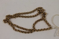 A 9ct gold necklace, 11g.