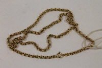 A 9ct gold necklace, 8.7g.