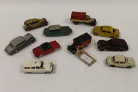 A Dinky Royal Mail van together with nine other Dinky vehicles such as Vauxhall + Packard Super 8. (10).