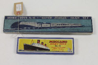 "A Dinky Number 16 Silver Jubilee Train set, together with a number 52 Cunard White Star Liner ""No.534"" both boxed (2)."