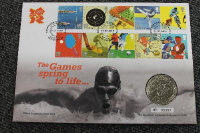 Seventeen Royal Mint stamp and coin covers. (17)