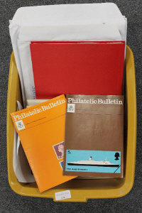 A quantity of Philatelic Society booklets, albums and dividers etc. (Q)