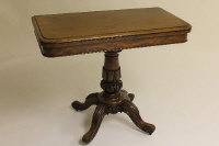 A Victorian mahogany card table, width 92 cm.