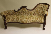 A Victorian style mahogany settee, width 203 cm.