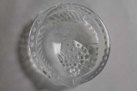 A Lalique glass dish with carp decoration, diameter 15.5 cm.