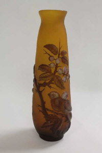 A Galle cameo glass vase, height 30 cm.