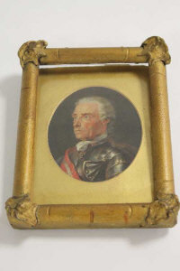 Nineteenth century school : A portrait of gentleman wearing military uniform, oil on panel, framed.
