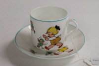 A Shelley Mabel Lucie Attwell cup and saucer. (2)