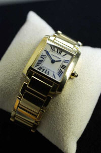 A Cartier 18ct yellow gold lady's 'Francaise' tank watch, serial number 2385 CC875607.