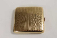 A 9ct gold cigarette case, 106.3g.