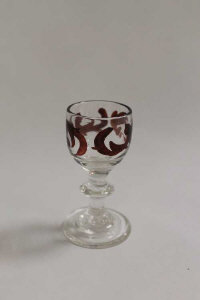 A rare late eighteenth / early nineteenth century firing glass, height 7 cm.