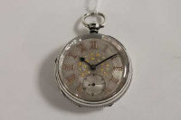A silver pocket watch, Chester 1893.