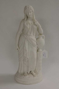 A parian figure - The water carrier, height 45 cm.