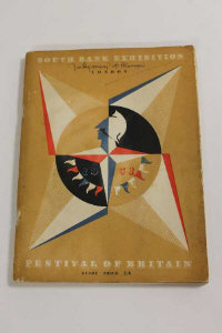 A 1951 Festival of Britain Exhibition catalogue signed to the front by Montgomery.