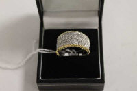 An 18ct white gold diamond cluster ring, approximately 1.72ct.