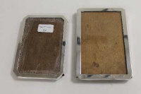 Two silver photograph frames. (2)