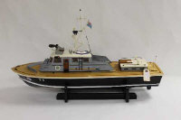 A model naval boat, length 91 cm.