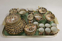 Forty-three pieces of Royal Crown Derby part tea and coffee set, pattern 2451. (43)