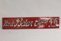 A vintage enamel cigar shop sign, length 76 cm.