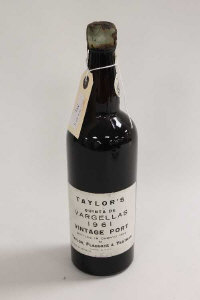 One bottle of Taylor's vintage 1961 port.