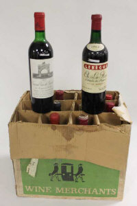 One bottle Mouton Cadet, Bordeaux, 1972, together with nine other various red wines. (10)