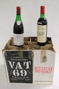 One bottle Chateauneuf -  du - Pape 1955, together with ten other bottles of various red wines. (11)