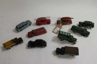A collection of Meccano Dinky diecast vehicles to include No25a Wagon; No25K Streamlined Fire Engine; No.25f Market Gardeners Lorry; No.39p Studewbaker Petrol Tanker; 152B Reconnaissance Car; No 25h Streamlined Fire Engine; No.25d Petrol Tank Wagon etc. (10).