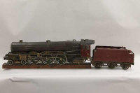 An early twentieth century finely constructed 3.5 inch gauge locomotive engine and tender - The Princess Royal 4-6-2.