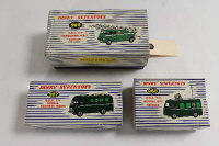 A Dinky BBC TV Extending Mast Vehicle 969, together with a Roving Eye Vehicle 968 and Mobile Control Room 967, all boxed. (3)