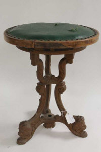 A nineteenth century cast based stool, height 43 cm.