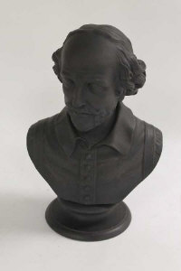 A Wedgwood black basalt bust depicting Shakespeare, height 30 cm.